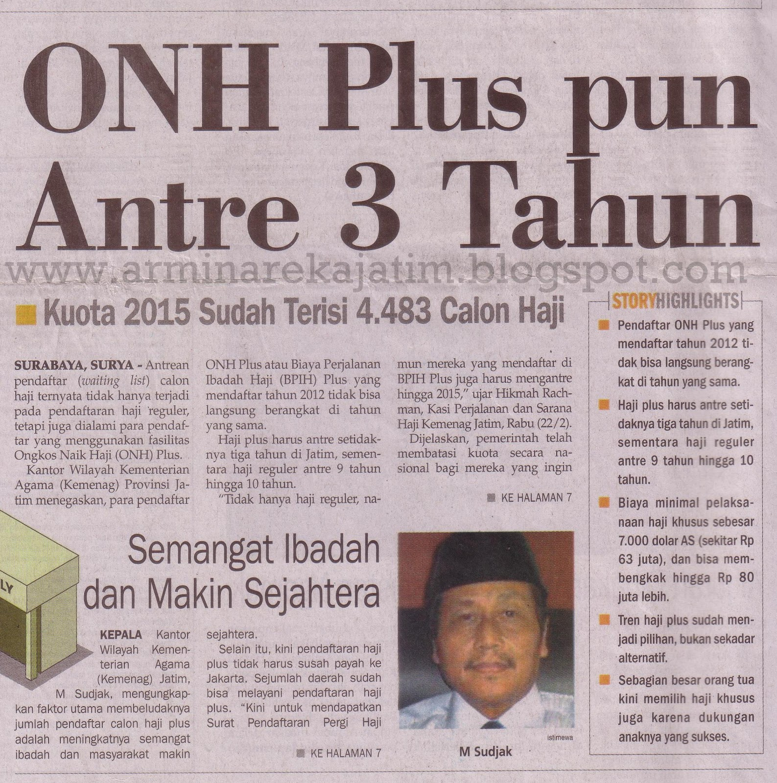 Ongkos Naik Haji Plus Antri 3 Tahun | Arminareka Perdana ...